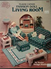 Plastic Canvas Fashion Doll Living Room Pattern Leaflet
