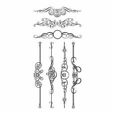 INKADINKADO clear cling stamps ORNATE FLOURISH New for Card making & stamping