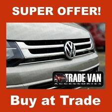VW T5 TRANSPORTER CHROME FRONT RADIATOR GRILLE GRILL STAINLESS STEEL 4PC 2010