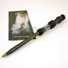 Harry Potter Dumbledore Wand Pen & Bookmark Licensed by The Noble Collection NEW