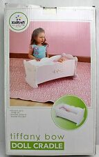 """KidKraft Tiffany Bow Doll Cradle Bed * Fits Dolls Up to 19"""" +Blanket, Pillow"""