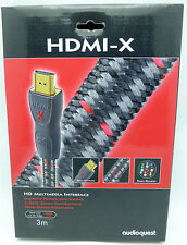 Audioquest HDMI-X 3 meter HDMI Cable braided version non-cl3 rated