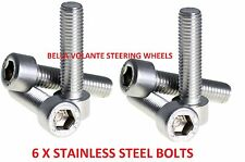 Steering wheel replacement bolts x6.Fits Momo,OMP,Sparco,Nardi boss hub kits.Cap