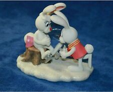 2000 GOLDEN BOOKS ENESCO PETER COTTONTAIL FIGURINE 796633 HELP SKATE DONNA GIFT
