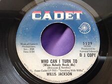 Mod Soul Inst 45 : Willis Jackson ~ Who Can I Turn To ~ Goose Pimples ~ Cadet