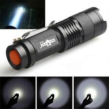Mini CREE Q5 LED foco linterna eléctrica Torch 7W 1200LM Ajustable Focus Zoom