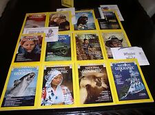 12 NATIONAL GEOGRAPHIC MAGAZINE COMPLETE SET 1976 ~ SLIPCASED & ALL SUPPLEMENTS