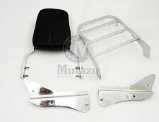 Chrome Sissy Bar Backrest & Luggage Rack for Honda Spirit 750 01-08 VT750DC