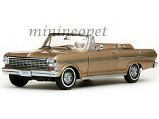 SUN STAR 3975 1963 63 CHEVROLET NOVA OPEN CONVERTIBLE 1/18 DIECAST SADDLE TAN