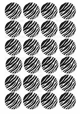 24 Zebra Print Wafer / Rice Paper Cupcake Topper Edible Fairy Cake Bun Toppers