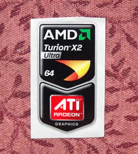 AMD Turion 64 X2 Ultra/ATI Radeon Graphics Combo Sticker 18 x 34mm Case Badge