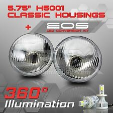 H5001 H5006 5.75 Round Sealed Beam Headlight - H4 LED Kit 6000K White (A)