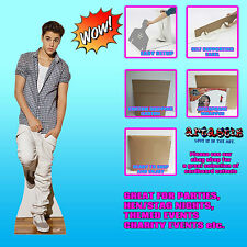 JUSTIN BIEBER  WEARING CHECK SHIRT 2013 Believe  LIFESIZE CARDBOARD CUTOUT