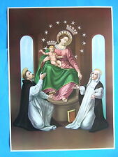 "Catholic Print Picture Poster OUR LADY OF POMPEI Rosary 20x28"" size"