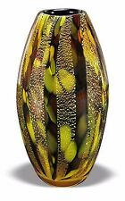 Heavy Crystal Vase Multi Colored Natural Green Brown Marble Design
