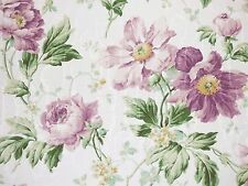 1 Yard P Kaufmann Floral AMETHYST Purple Green Off White Drapery Sewing Fabric