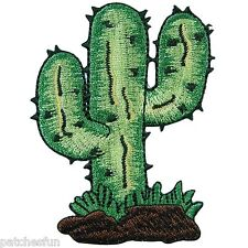 Cactus Desert Western Southwest Cowboy Cowgirl Embroidered Iron on Patch #1103