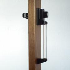 Lucite Black Handle Set - Storm Door Handle Replacement-1-1/4 Inch Thick Door