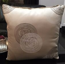 "Cushion Cover Sofa, Pack of 4 x Traditional Golden Spiral Beige Brown 18"" Inch"