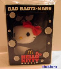 "NEW HELLO KITTY MCDONALD THAILAND PROMO BAD BADTZ-MARU BUBBLY Plush DOLL 6"" RARE"