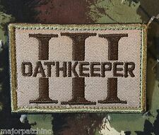 3 PERCENTER OATHKEEPER 3%ER INFIDEL ARMY MORALE TACTICAL MULTICAM VELCRO PATCH