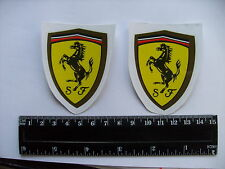 Ferrari 'Prancing Horse' Decals Self Adhesive A Pair (ty1) FREEPOST WORLDWIDE