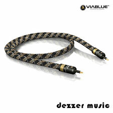 ViaBlue 1m H-FLEX optisches Mini-Toslink-Kabel / Digitalkabel / 1,00m HIGH END