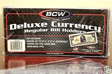 10 BCW DELUXE REGULAR CURRENCY Banknote Holders Semi Rigid
