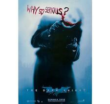 "BATMAN ""THE DARK KNIGHT"" POSTER ""BRAND NEW"" LICENSED ""WHY SO SERIOUS"" JOKER"