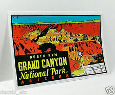 GRAND CANYON NORTH RIM Vintage Style Travel Decal / Vinyl Sticker, Luggage Label
