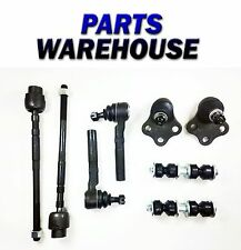 8 Pc Kit Ball Joint Assembly Tie Rod End Sway Bar Link Lifetime Warranty