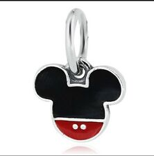 Disney Mickey Mouse Head Bead Charm. Fits Most Bracelets. BN