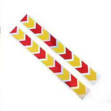 2pcs 40cm Car Auto Red Yellow Arrow Reflector Sticker Caution Warning Tape #6