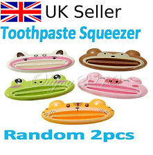 2x CARTOON ANIMALE DENTIFRICIO TUBO SQUEEZER SQUEEZE incollare DISPENSER PORTAROTOLO