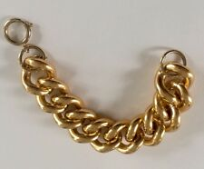 Beautiful Large Chunky Goldplated Erwin Pearl Chain Bracelet Estate Jewelry