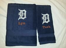 CUSTOM - DETROIT TIGERS LOGO EMBROIDERED BATH & HAND TOWEL SET