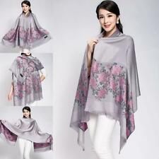 fashion scarf ladies double sided pashmina new floral colourful shawl long wrap
