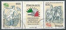 1985 ITALIA USATO ARTE RINASCIMENTALE BLOCCO - ED