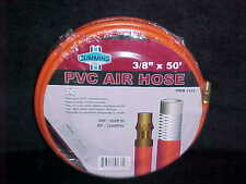 "New Cummins PVC AIR HOSE 3/8"" x 50' cpld 1/4"" MPT Safety Day Glow Orange 300 psi"