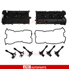 LH & RH Valve Covers, Gaskets, Ignition Coil for 02-07 Nissan Infiniti VQ35DE