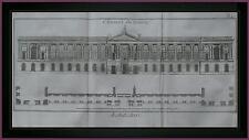 PLANCHE originale ARCHITETTURA COLONNATO del LOUVRE PARIGI  DIDEROT D'ALEMBERT