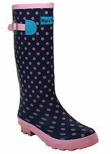 WOMENS 42 CM WIDE CALF FESTIVAL WELLIES WATERPROOF RAIN WELLINGTON LADIES BOOTS