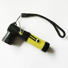 Mini Army Style Pocket LED Torch Super Bright Flashlight Rechargeable / Yellow