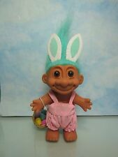 "EASTER WACKY WABBIT/RABBIT/BUNNY WITH BASKET-5"" Russ Troll Doll-New Store Stock"
