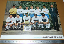 PHOTO FOOTBALL 1964 COUPE DE FRANCE OLYMPIQUE LYONNAIS LYON OL GERLAND GONES