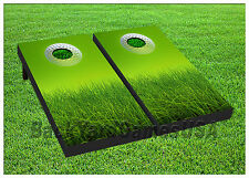 VINYL WRAPS Cornhole Boards DECALS Golf Fans BagToss Game Stickers 339