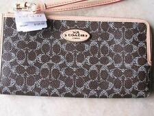 ~COACH SUTTON Zippy Wallet Signature C Saddle Apricot New with Tags!~