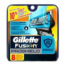 Gillette Fusion PROSHIELD Chill Men's 8 Count Razor Blade Cartridges NEW SEALED