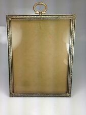 "VTG 1930'S BRASS PICTURE FRAME 9 "" X 7"" NRA NATIONAL RECOVERY ACT LABEL FDR"