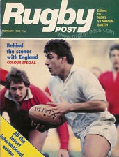 RUGBY POST Feb 1983 ENGLAND MAGAZINE